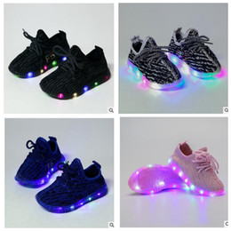 Wholesale Toddler Trainers - Kids LED Shoes s Toddler Anti-Slip Sports Boots Kids Sneakers Children Light Up Trainers Sneakers Luminous Shoe KKA2044