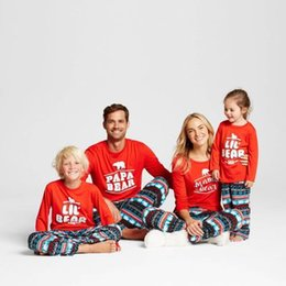 Wholesale Family Christmas Outfits - Newest Family Christmas Pajamas Sets Father Mother Daughter Son Papa Mama Bear Pjs Matching Family Pajamas Outfits Clothes Pyjamas Sleepwear