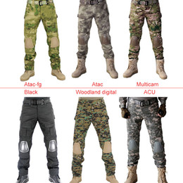 Wholesale Knee Padded Sports Pants - Tactical Pants with Knee Pad Hunting Clothing Airsoft Paintball Army Combat Padding Suit Camouflage Sport Trouser
