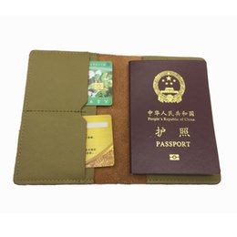 Wholesale Cheap Women Leather Cases - cute cheap women luxury passport protective holder case gobal standard size genuine leather travel lady passport cover