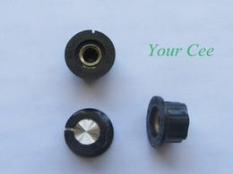 Wholesale Skirted Knob - Wholesale-50pcs Skirted Knob A01 For Standard Pots Black Diameter 20mm Height 11mm Hole Diameter 6mm For Potentiometer