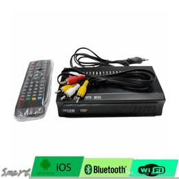 Wholesale Vga Tuner - NEW TV set 1080P HD DVB-T2 DVB-T AV to VGA TV Box HDMI VGA USB support MPEG4 compatible with all CRT and LCD monitors