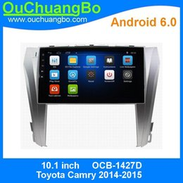 Radio bluetooth para camry online-Ouchuangbo gps navigation audio para Toyota Camry 2014-2015 soporte HD Touch screen 3G WIFI android 6.0