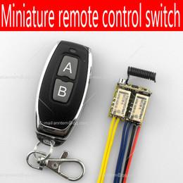piccoli pulsanti di commutazione Sconti Wholesale- Relè da 2 gruppi ultra-piccoli Interruttore di comando a distanza senza fili Segnale di pulsante Linea on-off DC3.7-12controller Modulo di controllo remoto!
