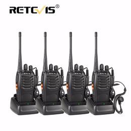 Wholesale Radios Hf - Wholesale- 4pcs Portable Walkie Talkie Retevis H-777 16CH UHF 400-470MHz Handy Ham Radio Hf Transceiver Two Way Radio Comunicador Walk Talk