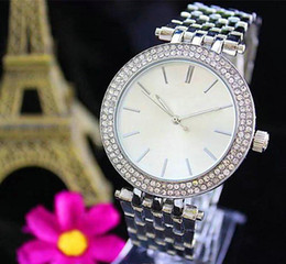 Wholesale Ladies Nursing Watches - silver Ultra thin woman diamond flower watches 2017 brand luxury nurse ladies dresses female Folding buckle wristwatch K big bang