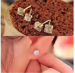 Wholesale Clip Earrings Star - EY448 2016 new fashion Exquisite Shiny CZ Stud Earrings female star Lulu Jewelry Wholesale