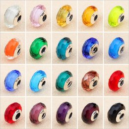 Wholesale Authentic Pandora Murano - Authentic Pandora Charms Style Beads With LOGO Murano Glass 100% 925 Sterling Silver Bead Fits pandora Jewelry Bracelets & Necklace DIY
