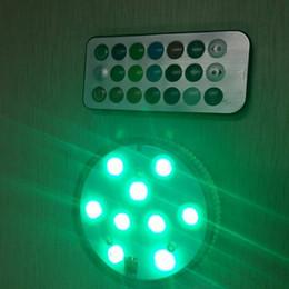 Подводный свет онлайн-Светодиодные моделирование свеча лампа круглый водонепроницаемый сад ВАЗа бак для воды освещение свадьба реквизит многоцветный подводный декор 8 8sd F R