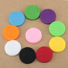 Wholesale 25mm Round - 100pcs Mixed 10Styles Colorful 17mm Round Essential Oils Diffuser Locket Pads Perfume Aroma Locket Replacement Pads for 25mm diffuser locket