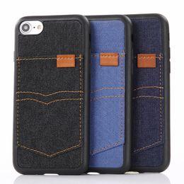 Canada Etui En Cuir De Cowboy Coque Arrière Pour iPhone 7 6 Plus Avec Fente Pour Carte Flip Couvre Téléphone cellulaire TPU Cas Pour Iphone 5 Offre