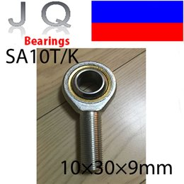 Wholesale Threaded Rod Ends - Wholesale- JQ Bearings 10mm SA10T K POSA10 Rod End Joint Bearing Metric Male Right Hand Thread M10x1.5mm Rod End Bearing