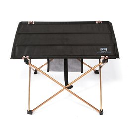 Wholesale Foldable Outdoor Tables - Lightweight Aluminium Alloy Portable Folding Table for Camping Outdoor Activties Foldable Picnic Barbecue Desk L56*W42*H37cm