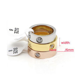 Wholesale Titanium Wedding Rings For Couple - Steel Screw Ring Luxury Design Fashion 4mm 6mm Titanium For Lovers Gold Plated Love Ring Fine Jewelry Couples Ring Wedding Rings