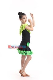 Wholesale ballroom latin dance dress children - 100-160cm Children Robe De Danse Latine Fringe Latin Dress Girls Latin Dance Costumes Kids Latin Skirts Ballroom Tango Dancewear