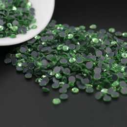 Wholesale Rhinestone Peridot - The Crafts Outlet DMC HOTFIX Superior Quality Glass Embellishmen DMC Hotfix Round Rhinestone SS6,SS10,SS16,1440pcs lot, ( Peridot )