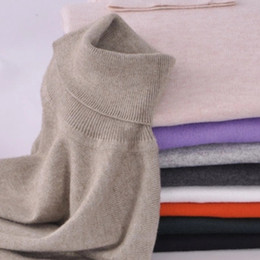 Wholesale Turtleneck Wholesaler - Wholesale- Women Sweater 2016 New Fashion Solid 13 Colors knitted sweater cashmere winter pullover Turtleneck Long-Sleeve Soft Warm Cloth