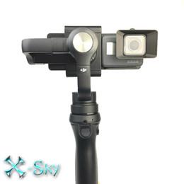 Wholesale Hood For Mobile - OSMO Mobile Handheld Gimbal Turn Gopro 5 Switch Mount Plate Camera Lens Sun Shade Hood for Gopro Hero DJI OSMO Z1-Smooth Zhiyun