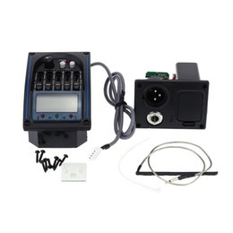 Wholesale Tuner Piezo Pickup Eq - High Quality EQLC-5 5-Band EQ Equalizer System Acoustic Guitar Preamp Piezo Pickup LCD Screen Tuner