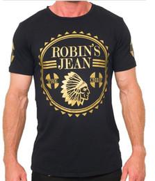 Wholesale Designer Fashion Tshirts - 2017 New Arrive United States tide brand Robin jeans mens t shirts men's short sleeve designer clothing Tshirts for men pluz size 3XL