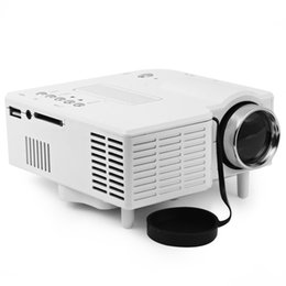 Wholesale Cheap Vga Leads - Wholesale-UC40 Mini LED Projector 400 Lumens Home Video LCD Projector Full HD Support AV SD VGA HDMI SD Card Cheap Proyector