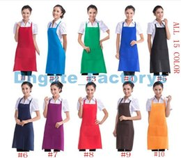 Wholesale Personalized Aprons - Customized Personalized Unisex Apron Cooking Kitchen Restaurant Bib Apron Dress with Pocket Gift Hot