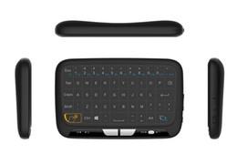 2017 Новый H18 Мини 2.4 Г Беспроводная Клавиатура С Полной Сенсорной Панелью Air Mouse Клавиатура для Windows Android TV Box Linux T95M X96 MXQ PRO от
