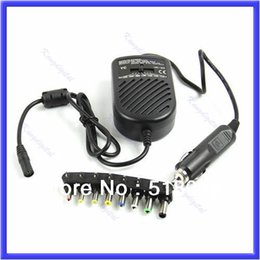 Wholesale Universal Notebook Charger Auto - Wholesale-E79 Universal DC 80W Car Auto Charger Power Supply Adapter Set For Laptop Notebook