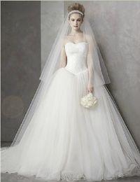 Wholesale Elegant Strapless Wedding Dress Hot - 2017 Hot Sale Simple Princess Wedding Dress Sweet Romantic Lace elegant Wedding Gown Strapless Bridal Dress Vestido De Noiva