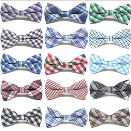Wholesale Cute Bow Tie - Cute Baby Boys Ties Plaid Bowknot Children Accessories Party Wear Fashion Classical Check Kids Tie Bow