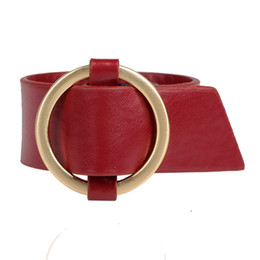 Wholesale Bracelet Big Vintage - 2017 Fashion Punk Black Leather Bracelet Men Party Gift Ehnic Statement Big Wide Vintage Red Round Bangle Bracelet Wholesale Free shipping