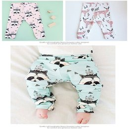 Wholesale Cheap Clothing Boy Girl - Newborn pants Winter warm trousers Fox dinosaur print Velvet baby clothes Ins boys girl kids pants 100%cotton 2016 wholesale cheap