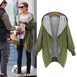 Wholesale New Winter Coats For Women - Plus size winter jackets for women new autumn loose large size jackets woman coat long-sleeved oversized jackets 4 colors