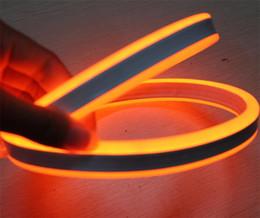 Laranja levou flexível tira impermeável on-line-Carretel de 50 m 8 * 18mm dupla face emissor de luzes de tubo de néon mini flexível orange neon tira à prova d 'água IP75 12 V 24 V para a decoração