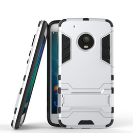 Wholesale E3 Case - 2 in 1 Hybrid Armor Phone Back Cover for Motorola Moto G5 Plus G4 Plus M E3 X Force PC+TPU Anti-knock Case with Stand