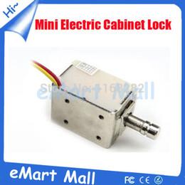 Mini bloqueo electrónico online-Al por mayor-Mini cerradura eléctrica del gabinete, cerradura electrónica del gabinete del metal, cerradura del cajón, cerradura eléctrica del perno para el pequeño gabinete