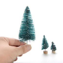Wholesale Christmas Pine Decoration - 1 Pcs Christmas Tree A Small Pine Tree Placed In The Desktop Mini Christmas Decoration For Home Xmas 3size