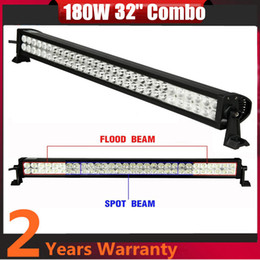 Wholesale Led For Roof - 32 inch 180W Spot Flood Combo Beam LED Light Bar For Offroad Roof Lamp DRL Daytime Running Light Driving Fog Lamp Ute Suv ATV 4X4 Truck Jeep