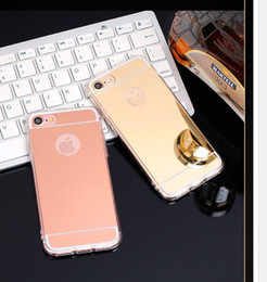 Wholesale S4 Case Chrome - Mirror Case Electroplating Chrome Soft TPU Case Cover FOR IPHONE 8 5 6 7 6 PLUS Galaxy S8 S8 PLUS S7 S7 EDGE S4 S5 S6 S6 EDGE NOTE 8 50PC