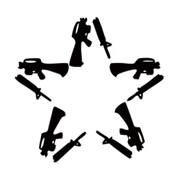 Wholesale Stars Roof - New Product For Anti Flag Gun Star Car Styling Truck Decal Vinyl Personality Sticker Jdm Car Window Accessories Decorate