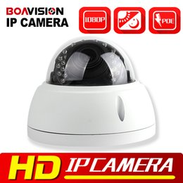 Wholesale Dome Camera Vandal Ip - HD 1080P 2MP Dome IP Camera POE Outdoor Vandal-proof Night Vision IR-CUT 4x Zoom 2.8-12mm Lens Dome Network IP Camera Security