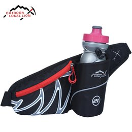 Wholesale Fanny Pack Water Bottle - Wholesale- Outdoor Travel Running Sport Waist Pack Water Lightweight Belt Bag Multifunction Men Women Fanny Pack With Bottle Holder