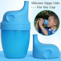 Wholesale Glass Bottles For Drinks - 5 Colors Silicone Stretch Lids Silicone Sippy Lids for Baby Drinking Converts Any Glass to a Sippy Bottle Spillproof Lids CCA6956 100pcs