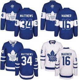 Wholesale Kids Black Ice Jersey - Youth Men Toronto Maple Leafs 34 Auston Matthews 16 Mitch Marner Blue kids 100th 2017 Centennial Classic Premier Jersey stitched S-XL