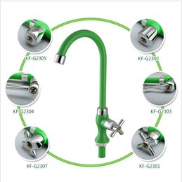 Wholesale Kitchen Rotating - Kitchen faucet ABS plastic for cold and hot water tap Sink faucet Vegetable washing basin 360 degree rotating faucet