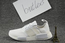Wholesale Classic Tennis - 2017 NMD Runner R1 Primeknit White OG Black Nice Kicks Men Women Running Shoes Sneakers Originals Classic Casual Shoes With Box