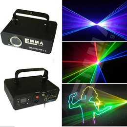 Wholesale Scanner Rgb - new RGB 1000mW DMX Laser galvo Scanner 3D effect light DJ Disco Party Xmas Stage