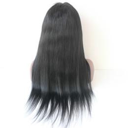 Perucas chinesas pretas on-line-Densidade grossa peruca de cabelo 300 densidade brasileiro do cabelo humano em linha reta glueless dianteira do laço perucas com franja chinesa para as mulheres Negras peruca de cabelo humano