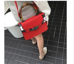 Wholesale Wild Fashion Bags - The court of Europe and the United States big handbag 2017 new women's package Chao bamboo handle bag fashion wild shoulder Messenger bag