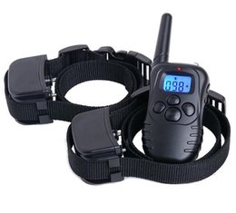 Wholesale Ultrasonic Collars For Dogs - High quality For 2 dogs remote control Pet dog training collar bark stop collar electric shock device treatment ring stop dog barking collar